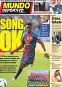 Portada Mundo Deportivo del 18 de Agosto de 2012