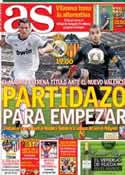 Portada diario AS del 19 de Agosto de 2012