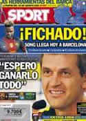 Portada diario Sport del 19 de Agosto de 2012