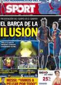 Portada diario Sport del 21 de Agosto de 2012