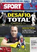 Portada diario Sport del 23 de Agosto de 2012