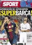 Portada diario Sport del 24 de Agosto de 2012