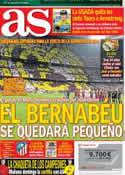 Portada diario AS del 25 de Agosto de 2012