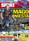 Portada diario Sport del 25 de Agosto de 2012