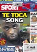 Portada diario Sport del 26 de Agosto de 2012