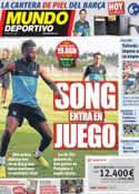 Portada Mundo Deportivo del 26 de Agosto de 2012