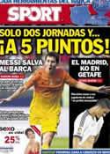 Portada diario Sport del 27 de Agosto de 2012