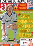 Portada diario AS del 28 de Agosto de 2012