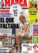 Portada diario Marca del 28 de Agosto de 2012