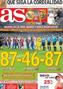 Portada diario AS del 29 de Agosto de 2012