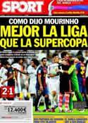 Portada diario Sport del 30 de Agosto de 2012