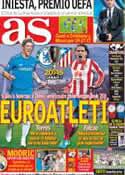 Portada diario AS del 31 de Agosto de 2012