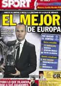 Portada diario Sport del 31 de Agosto de 2012