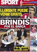 Portada diario Sport del 1 de Septiembre de 2012
