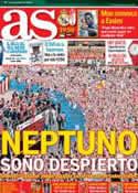 Portada diario AS del 2 de Septiembre de 2012