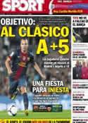 Portada diario Sport del 2 de Septiembre de 2012
