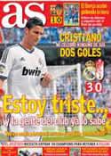 Portada diario AS del 3 de Septiembre de 2012