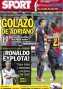 Portada diario Sport del 3 de Septiembre de 2012