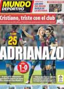 Portada Mundo Deportivo del 3 de Septiembre de 2012