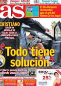 Portada diario AS del 4 de Septiembre de 2012