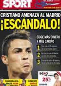 Portada diario Sport del 4 de Septiembre de 2012