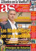 Portada diario AS del 6 de Septiembre de 2012