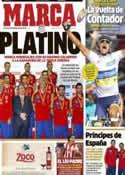 Portada diario Marca del 6 de Septiembre de 2012