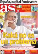 Portada diario AS del 7 de Septiembre de 2012
