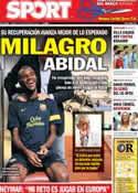 Portada diario Sport del 7 de Septiembre de 2012