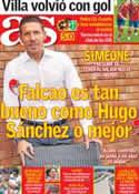 Portada diario AS del 8 de Septiembre de 2012