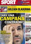Portada diario Sport del 8 de Septiembre de 2012