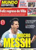Portada Mundo Deportivo del 8 de Septiembre de 2012
