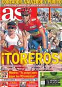 Portada diario AS del 9 de Septiembre de 2012