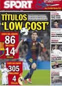 Portada diario Sport del 9 de Septiembre de 2012