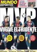 Portada Mundo Deportivo del 9 de Septiembre de 2012