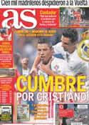 Portada diario AS del 10 de Septiembre de 2012