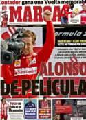 Portada diario Marca del 10 de Septiembre de 2012