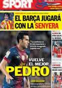 Portada diario Sport del 10 de Septiembre de 2012