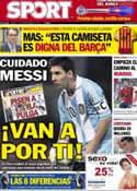 Portada diario Sport del 11 de Septiembre de 2012