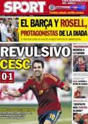 Portada diario Sport del 12 de Septiembre de 2012