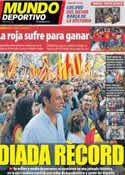 Portada Mundo Deportivo del 12 de Septiembre de 2012