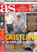 Portada diario AS del 13 de Septiembre de 2012
