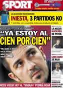 Portada diario Sport del 13 de Septiembre de 2012