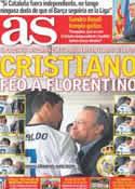 Portada diario AS del 14 de Septiembre de 2012