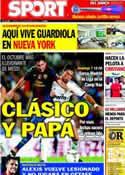 Portada diario Sport del 14 de Septiembre de 2012