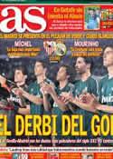 Portada diario AS del 15 de Septiembre de 2012