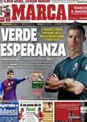 Portada diario Marca del 15 de Septiembre de 2012