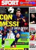 Portada diario Sport del 15 de Septiembre de 2012