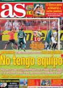 Portada diario AS del 16 de Septiembre de 2012