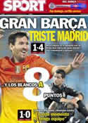 Portada diario Sport del 16 de Septiembre de 2012